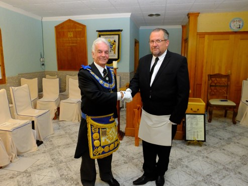 New Provincial Grand Master on First Official Visit