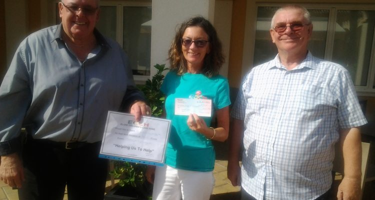 Dama De Elche Lodge makes welcome donation to children's home.