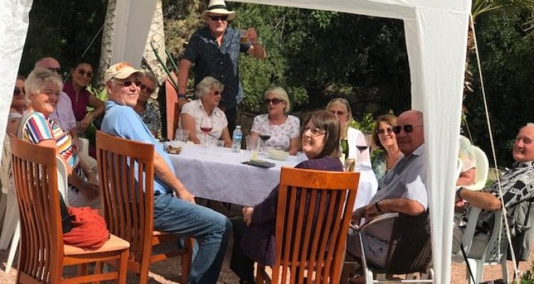 Santa Faz 'Master at Home' garden party for charity.