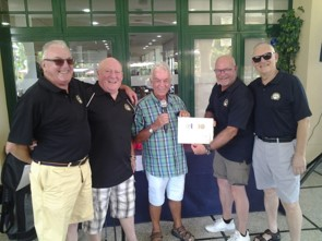 White River presenting two cheques to the PGM