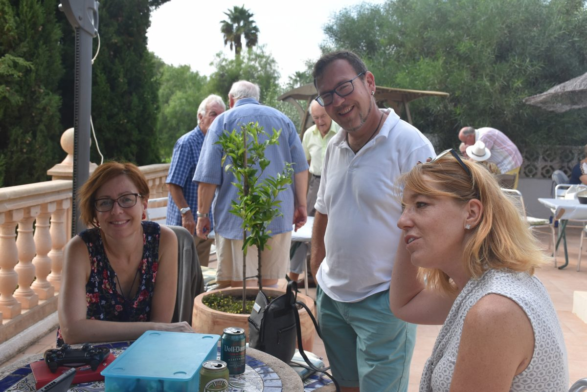 Local Freemasons from Arenal Deportiva Lodge hold barbecue