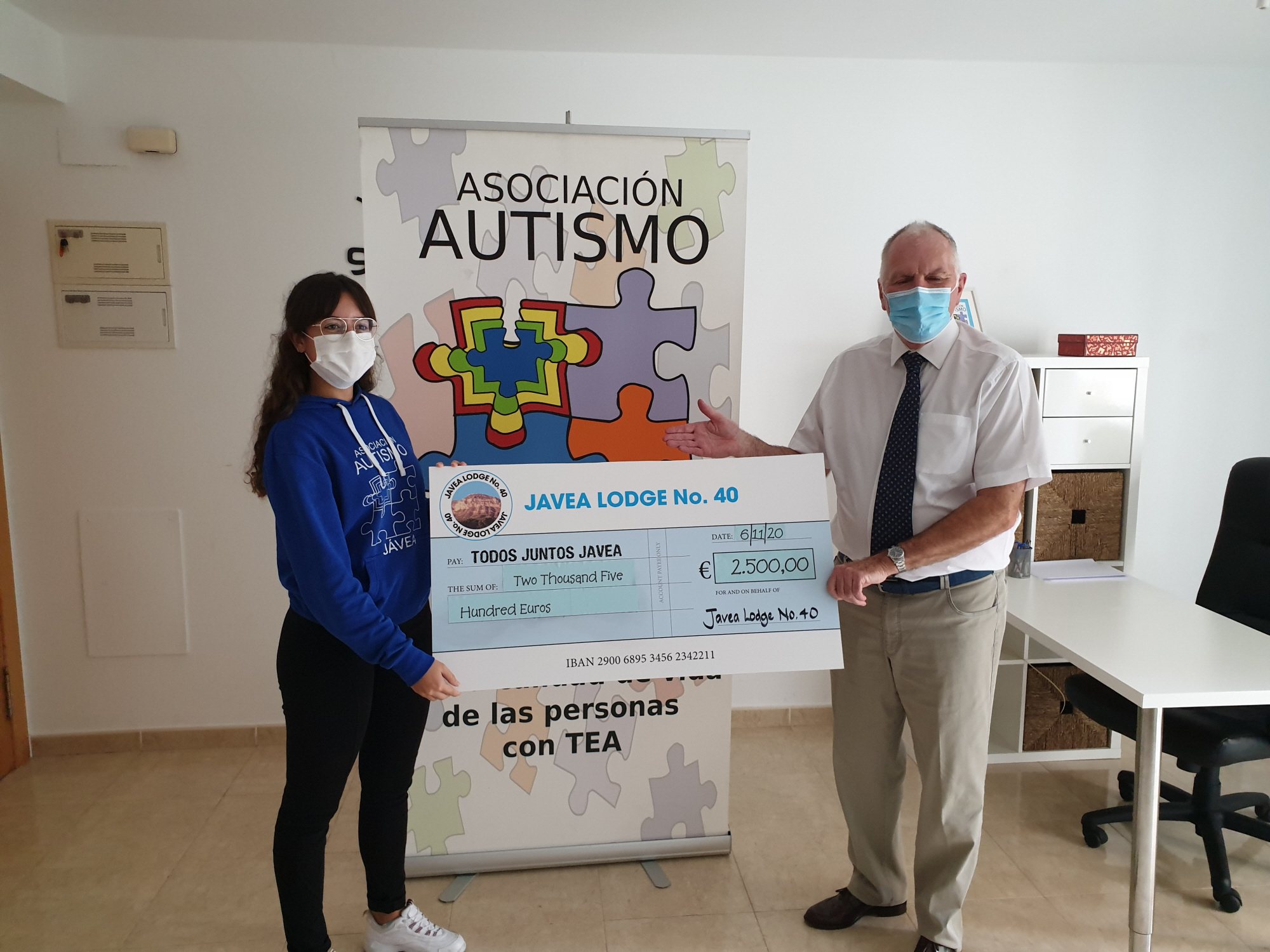 Freemasons provide warmth for autistic children.